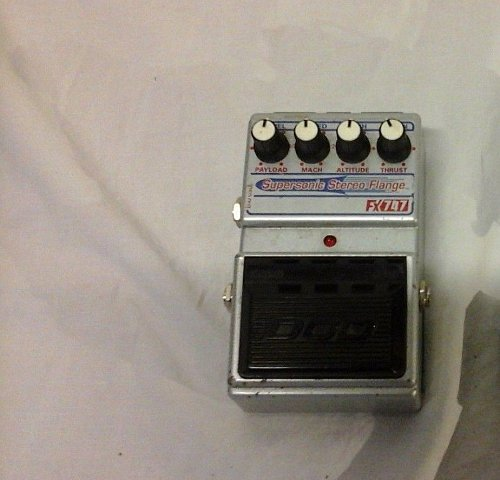 USED guitar effect pedal DOD FX747 Supersonic Stereo Analog Flange w/power cord