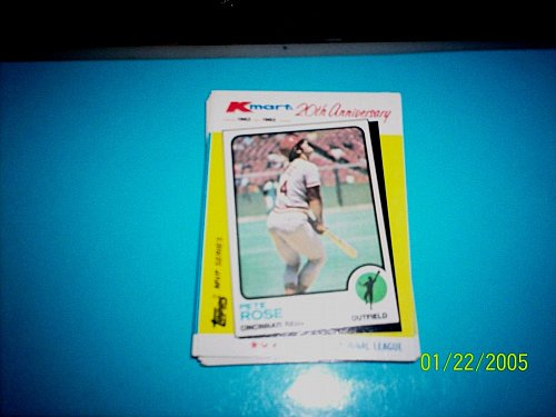 PETE ROSE REDS 1982 TOPPS KMART 20TH ANNIVERSARY #24 OF 44