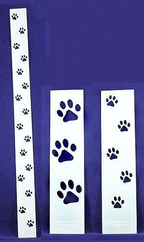Dog Paw Tracks- 3 Pc Set- Stencils -14 mil Mylar Painting/Crafts/Borders