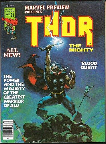 THOR Marvel Preview #10 Marvel Comics BEAUTY B&W 1977 split w/ Hercules MAGAZINE