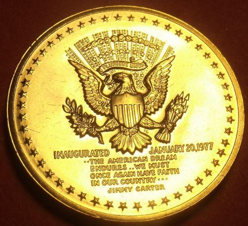 Gem Unc Jimmy Carter Presidential Bronze Inauguration Medallion~Free Shipping