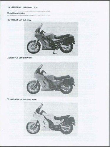 1986-2000 Kawasaki Concours 1000 ( 1000GTR ) Service Manual on a CD