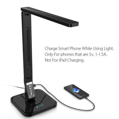 TaoTronics Elune TT-DL01 Dimmable LED Desk Lamp 5-Level Dimmer, New