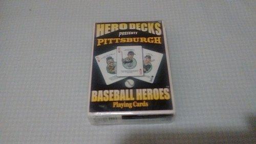hero decks pittsburgh pirates baseball heros playing cards (w/Clemente, SEALED)