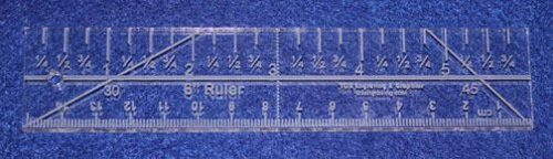 """6"""" Ruler with Imperial/ Metric markings. Acrylic ~1/4"""" thick. Quilting/Sewing"""