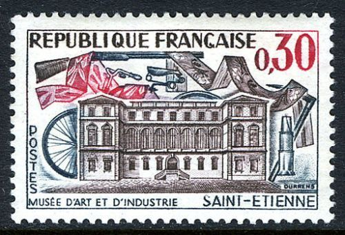 France St. Etienne Museum of Art mnh 1960