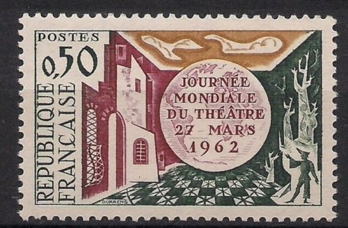 France World Theatre Day mnh 1962