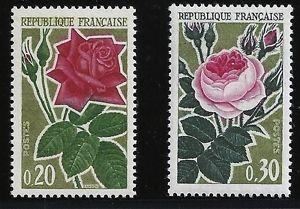 France Rose Culture mnh 1962