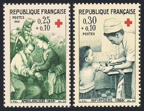 France Red Cross mnh 1966