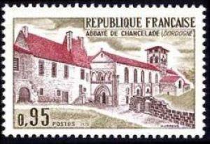 France Abbaye de Chancelade mnh 1970