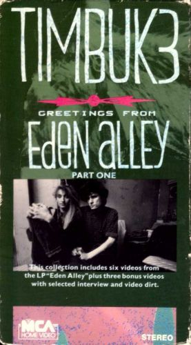 VHS - Timbuk 3 - Greetings From Eden Alley Part One (1988, NTSC) - 9 Music Videos