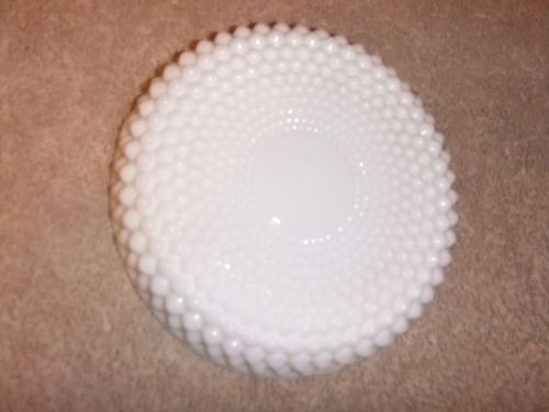 Ash Tray Vintage Milk Glass Westmoreland English Hobnail Pattern