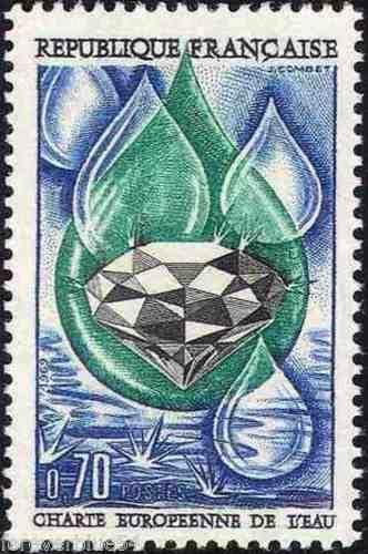 France European Water Charter mnh 1969