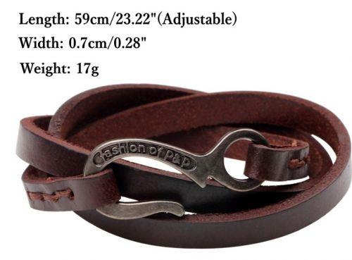 1pc adjustable leather bracelet