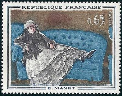 France Paintings Manet mnh 1962