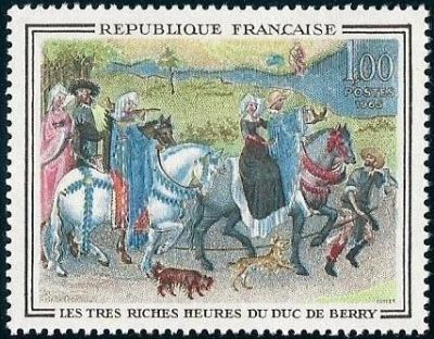 France Painting De Berry mnh 1965