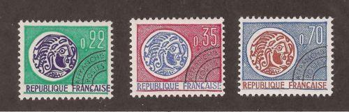 France Precancelled Gallic Coins mnh 1969