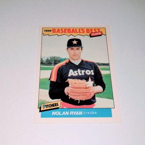 Vintage Nolan Ryan 1986 Fleer BASEBALLS BEST Collectors Card MNT