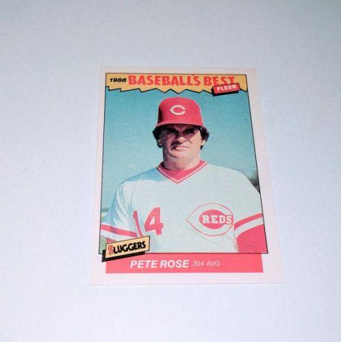 Vintage Pete Rose 1986 Fleer BASEBALLS BEST Collectors Card MNT