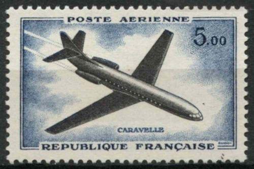France Airmail 5f mnh 1960