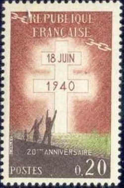 France De Gaulle's Appeal mnh 1960