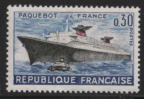 """France Voyage of Liner """" France"""" mnh 1962"""