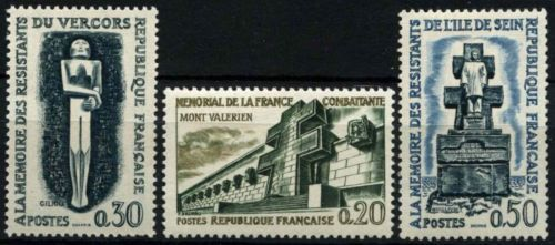 France Resistance Fighters Memorials mnh 1962