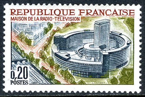 France Radio and Television Center mnh 1963