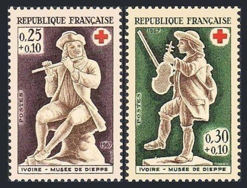 France Red Cross mnh 1967