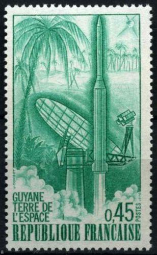 "France Diamant B"" Rocket from Guyana mnh 1970"