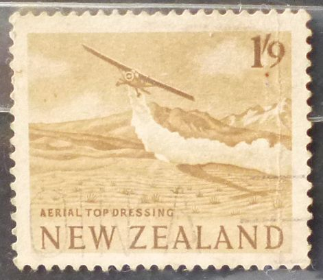 Stamp New Zealand 1960 Definitive Aerial Top Dressing 1s9d