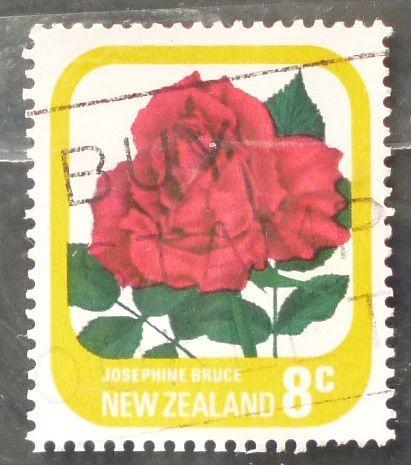Stamp New Zealand 1979 Definitive Flower Roses- Josephine Bruce 8c