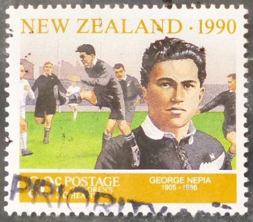 Stamp New Zealand 1990 Sportsmen George Nepia 80c