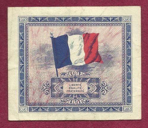 France 10 Francs 1944 Banknote No 39551312 Allied Military Currency (AMC)