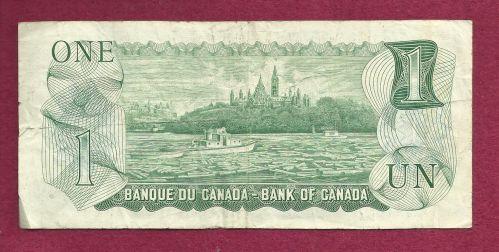 Canada 1 Dollar 1973 Banknote # AAL4276849 - Lawson/Bouey - Queen Elizabeth