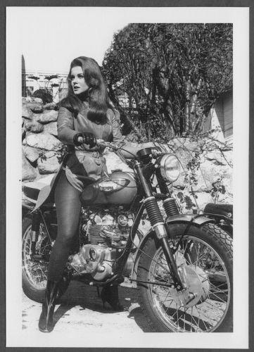 ACTRESS ANN MARGRET MOTORCYCLE RIDING POSE REPRINT PHOTO 5x7 #33