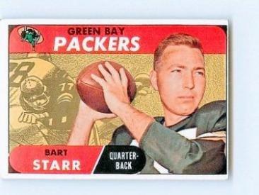 Vintage 1968 Topps #1 Bart Starr Packers VG-EX+
