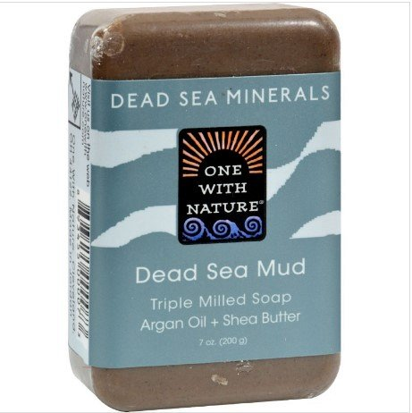 One With Nature Dead Sea Mineral Dead Sea Mud Soap, Natural,