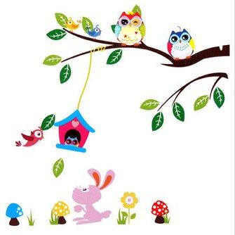 owl animals home decor wall sticker