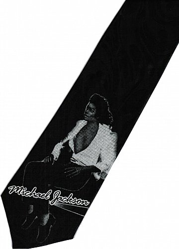 JTI Michael Jackson MJ Super Star Singer King of Pop #2 Novelty Neck Tie
