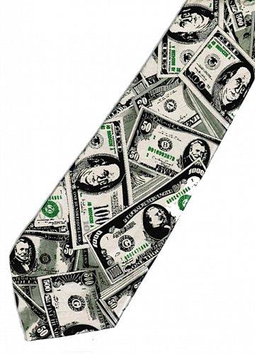 JTI Money USA United States Banknote Fancy Novelty Neck Tie