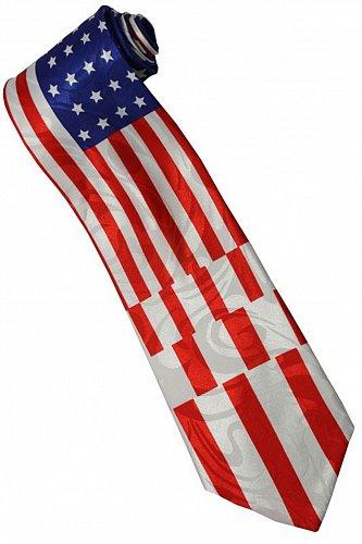 JTI Patriotic American Flag #11 Novelty Necktie