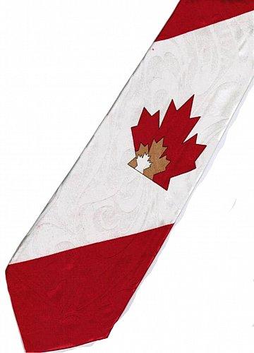 JTI Patriotic Canada Flag #2 Novelty Necktie
