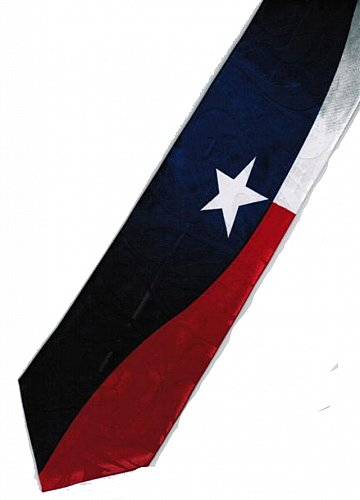 JTI State of Texas USA United States American Flag Novelty Necktie