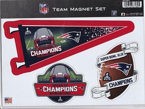 New England Patriots Super Bowl XLIX Champions Team Magnet Set
