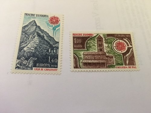 Andorra France Europa 1978 mnh stamps