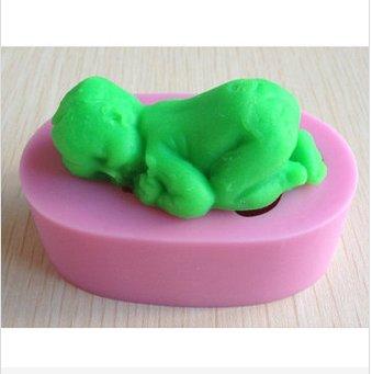 fashion baby shape cake silicone mold