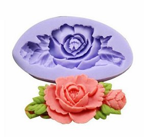 fashion flower DIY jewelry cake silicone mold