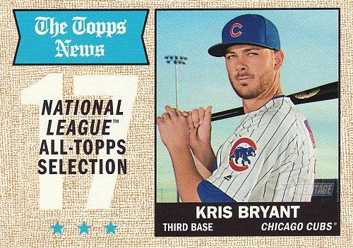 2017 Topps Heritage #371 - Kris Bryant AS - Cubs