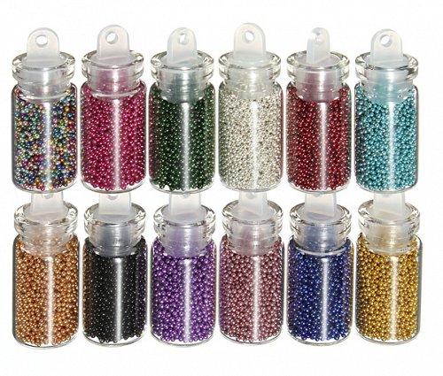 12 bottles nail art decoration